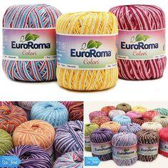 O EuroRoma Colori já chegou ao Armarinho São José! Encontre no www.armarinhosaojose.com.br #artesanato #croche #agulhas #artemanual #armarinhos #saojosearmarinho #lovecroche #crocheteira #crochebrasil #eurofios #artecomeueuroroma #handmade #feitoamao