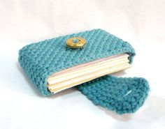 Crocheted Purse Crochet Card Wallet Business Card by MelbaShoppe, $12.00