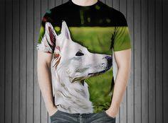 T-Shirt - Dog swiss shepherd dog white animal
