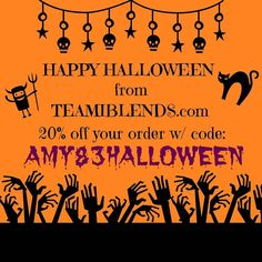Before you eat the candy drink the skinny tea!  Get 20% off your order at checkout with code AMY83HALLOWEEN now! #thankyouteami #teamicommunitea #teamiblends #teamiloyalty #detox #tea #boostmetabolism #organic #looseleaftea #teami #teatox #lifestyleblogger #atlanta #discountcode