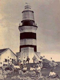 Muttom Light House Crocodile Rock, Kanyakumari, Stone Masonry, Red Sea, South India, White Paints, East Coast, Lighthouse, Paths