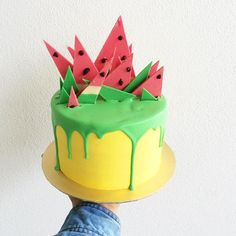 Tembikai-fied cake. No it does not has watermelon flavor, sadly. Sorry @katherine_sabb... | Use Instagram online! Websta is the Best Instagram Web Viewer!