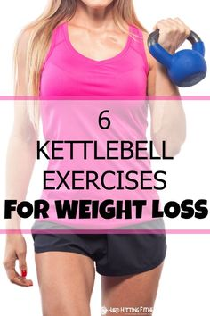 Great 30 minute workout using kettlebell exercises for weight loss! These 6 kettlebell exercises will certainly burn calories! I'm going to start doing more kettlebell workouts to help reach my weight loss goals!