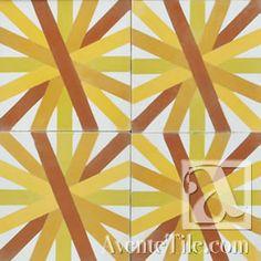 "Artist Series Guillermo Lama Asterdisc 2A 10""x10"" Handmade Cement Tile"