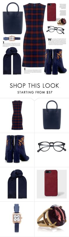 """""""Plaid Dress"""" by cinnamonbelle ❤ liked on Polyvore featuring 10 Crosby Derek Lam, Mother of Pearl, Eugenia Kim, BOSS Hugo Boss, Paul Smith and Marc Jacobs"""