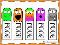 FREE!  Halloween BOOkmarks!  TeacherKarma.com