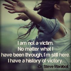 Remember this!! Men or women, stop allowing the past lies that were told to you (about yourself) to keep swirling around in your head, taking up space in your mind and heart. You have made it this far...KEEP GOING!!!! :)