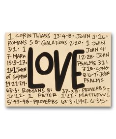 Another great find on #zulily! 'Love' Block Sign by Magnolia Lane #zulilyfinds