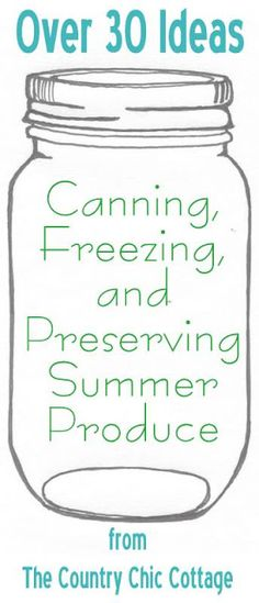 DIY Food Preservation Tips and Recipes : Your ultimate guide to canning, freezing and preserving your summer produce. Preserve that summer bounty with these great ideas. -Read More – Canning Tips, Home Canning, Canning Recipes, Jar Recipes, Freezer Recipes, Freezer Meals, Canning Food Preservation, Preserving Food, Do It Yourself Food