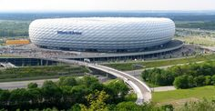 Munich Soccer Stadium  Drove by it on my way around the city