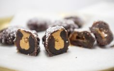 These chocolate covered dates combine some of the best flavors when it comes to dessert: the sugary goodness of soft Medjool dates, creamy nut butter, and of course, chocolate.
