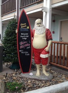Even Santa is this winter! Pismo Beach California, Central Coast, Best Western, Stay The Night, Surfing, Santa, Winter, Winter Time, Surf