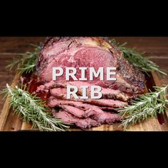 Easy recipe for delicious Prime Rib with a simple garlic rub. Step by step instructions for the grill or oven roasting for tender, juicy melt in your mouth prime rib roast. Prime Rib Recipe Oven, Prime Rib In Oven, Boneless Prime Rib Recipe, Ribs In Oven, Ribs On Grill, Prime Rib Roast Recipe Bone In, Pork Ribs, Prime Rib Roast Rub, Cooking Prime Rib Roast