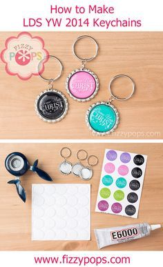 Fizzy Pops Key Chains are a perfect way to feature the 2014 Young Women theme, so we can see why they are so popular year after year for Young Women birthday gifts! They are simple and fun to make and cost well under $1 each.