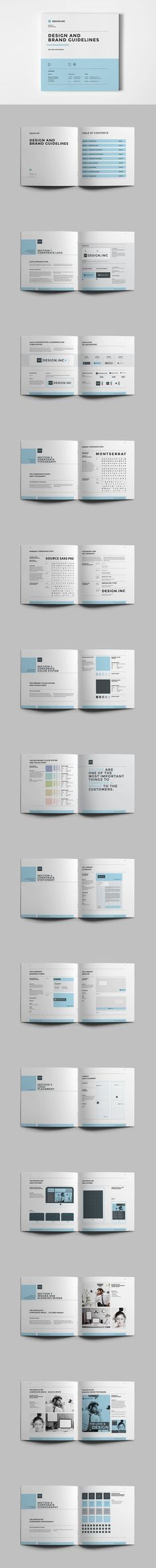 Brand Manual and Identity 36 Pages Template InDesign INDD