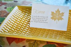 Free Thanksgiving Place Card Printable! #Thanksgiving