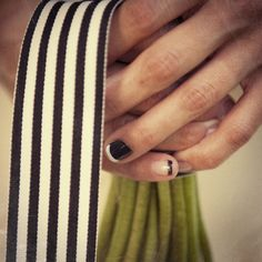 Black-and-White French Manicure | Bright Bird Photography | Blog.TheKnot.com