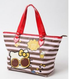 cf360dfc6e5c Hello Kitty x Hallmark Tote Bag Handbag Shoulder Purse Pouch Sanrio Japan  V1001