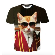 ce5b42fcb024 Camisa estampa com gato Harajuku
