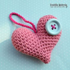 Crochet heart  crochet pattern DIY by VendulkaM on Etsy, $4.50