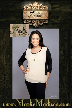 + Sheer in Champagne http://www.marliemadison.com/tops