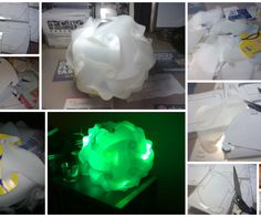 It is my first instructable. I am going to show you how I use 2L Milk Carton bottles as my raw material to construct my own IQ Lamp. What you need * a pair of sharp scissors * a sharp cutter * sticky tape * 2L Plastic Milk Bottles (lots of them) * access to computer and printer (for printing the template) * LED Light (Christmas decoration light on a string or Changing Colour LED Keyring)  I have been inspired by other authors from the INSTRUCTABLE website to construct my ...