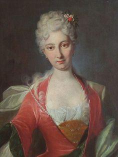 Portrait of an unknown Lady   Johann Rudolf Huber (c.1710)