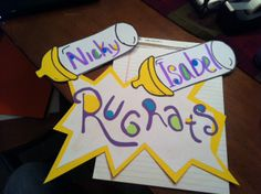 Rugrat door decals! Great idea if one wanted to do a nickolodeon themed floor!