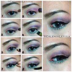 "[ ✨MAKEUP TUTORIAL✨ ] Tutorial details of ""Unicorn Shadow"" #makeup #eyemakeup look. Hope u guys love it!! ✨ #tutorial #pictorial #stepbystep #howto #beauty #makeuptutorial"