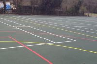 Coating Of Synthetic MUGA Surfacing With Acrylic Coatings - http://www.sportsandsafetysurfaces.co.uk/sports/multi-use-games-area/painting/ here you can see more details about the different sports court coatings.