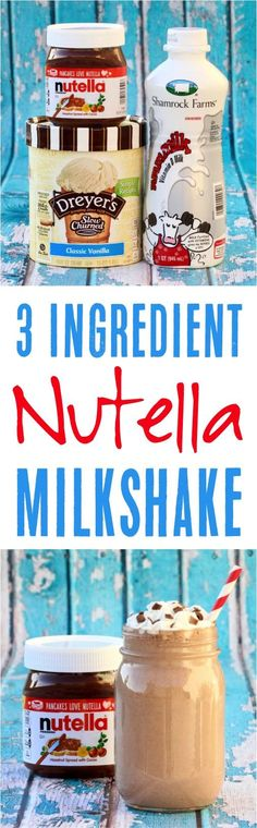 Milkshake Recipe! You'll love this easy Nutella Milkshake drink recipe! | NeverEndingJourneys.com