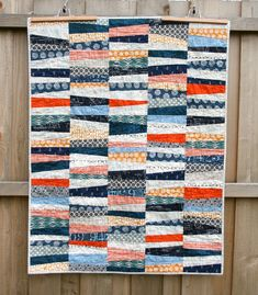 Wonky Stipes Baby Quilt   Flickr - Photo Sharing!