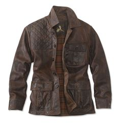 Supple, quilted goatskin leather pairs with a warm flannel lining in the Redfield Jacket. Stylish Men, Men Casual, British Style Men, Biker Wear, Summer Outfits, Casual Outfits, Waxed Cotton Jacket, Sharp Dressed Man, Quilted Leather