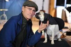 James Taylor and his pug, Ting- I was named after this man. Look how much his pug loves him.