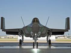 First F-35C, CF-1, in run station in Fort Worth with both wings folded.