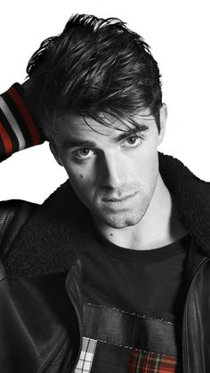 Andrew Taggart, black and white, Tommy Hilfiger, 720x1280 wallpaper