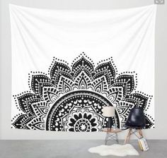 Moonlight Mandala Wall Decor Tapestry #EuropeanHomeDecor