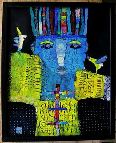 New Art 2015 - Album photos - Elke Trittel Art Abstract Faces, Abstract Art, Art Du Collage, Creation Art, Art Populaire, Art Sculpture, Art Textile, Inspiration Art, Art Abstrait