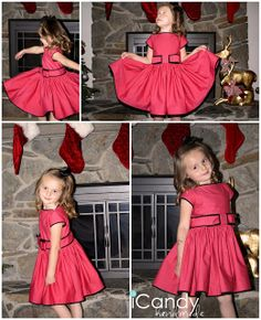 (tutorial and pattern!) Winter Rose Dress - iCandy handmade