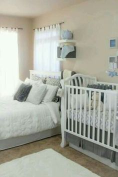 Master Bedroom Nursery Ideas diy decorating: combined master bedroom and baby nursery | gladly