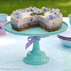 Turquoise melamine cake stand 2