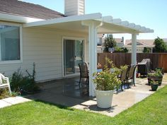 Patio Covers For Small Backyards | Covered Patio Designs U2013 04 Solid Patio  Cover [640x480