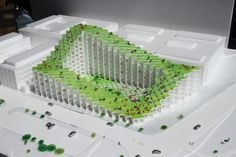 Use of units -> can separate and group crops Green Architecture, Sustainable Architecture, Landscape Architecture, Architecture Design, Big Architects, Famous Architects, Bjarke Ingels Architecture, Archi Design, Arch Model