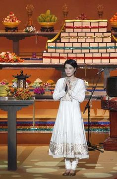 Hong Kong pop singer Faye Wong performs during the third World Buddhist Forum in Hong Kong April 26, 2012.
