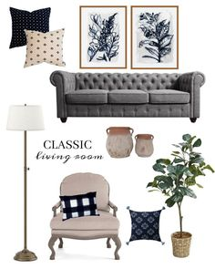 Our living room is getting a classic refresh and I am on the hunt for affordable artwork. There are so many gorgeous options that won't break the bank. Style Board, Affordable Artwork, Living Room, Family Room, Home Goods, Love Seat, Adjustable Lamps, A Thoughtful Place, Room