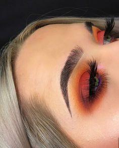 Augen Make Up Orange #augen #augenmakeup #orange