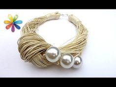 Peyote with a twist - not crochet (Peytwist) zip connection peyote start Fabric Jewelry, Wire Jewelry, Beaded Jewelry, Handmade Jewelry, Necklace Tutorial, Diy Necklace, Yarn Bracelets, Crochet Bracelet, Bijoux Diy
