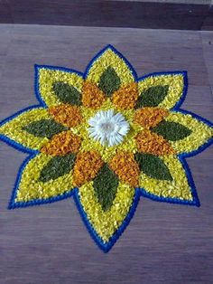 Rangoli Design Images – Rangoli Designs A collection of images of beautiful and unique rangoli designs that are trending all over the internet. Flower Rangoli A description of the project and the works presented. Easy Rangoli Designs Diwali, Simple Rangoli Designs Images, Rangoli Designs Flower, Rangoli Ideas, Colorful Rangoli Designs, Flower Rangoli, Beautiful Rangoli Designs, Flower Designs, Diwali Rangoli