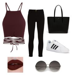 """Unbenannt #1"" by queenirosh ❤ liked on Polyvore featuring Lacoste, Frame and adidas"