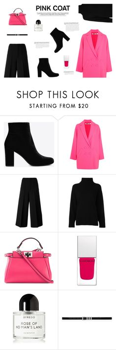 """""""PINK COATS"""" by canvas-moods ❤ liked on Polyvore featuring Yves Saint Laurent, McQ by Alexander McQueen, Marni, Emporio Armani, Fendi, Givenchy and Byredo"""